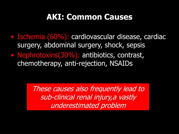 AKI: Common Causes