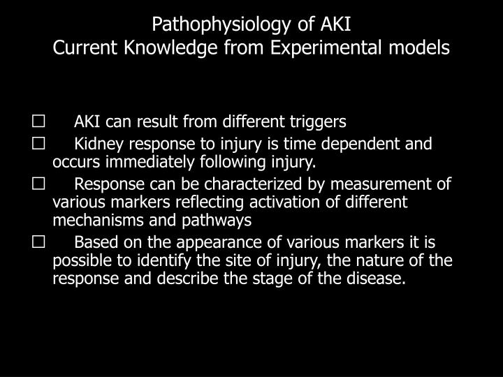 Pathophysiology of AKI