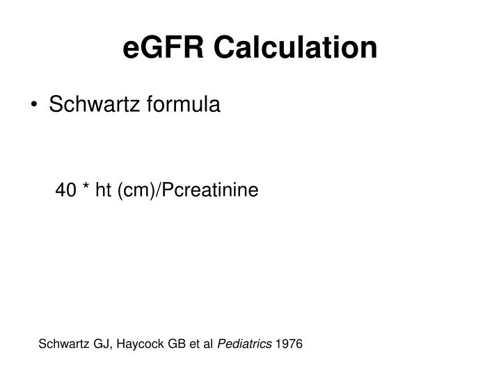 eGFR Calculation