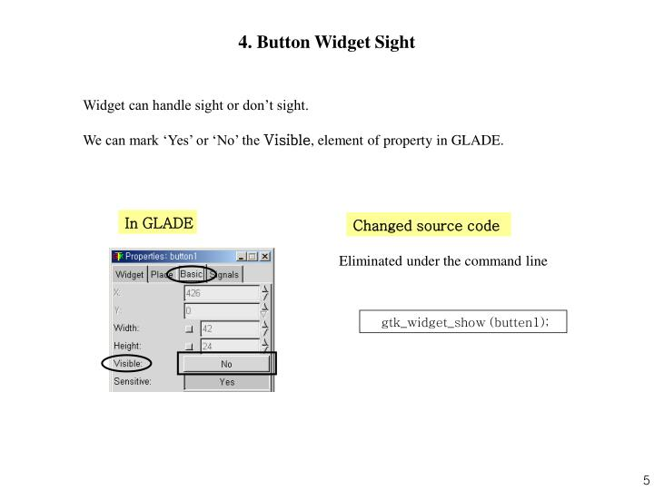 4. Button Widget Sight
