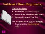 notebook three ring binder