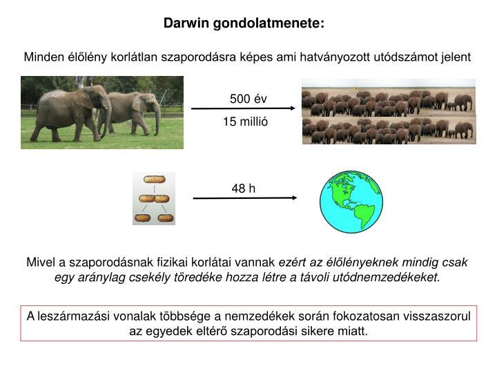 Darwin gondolatmenete:
