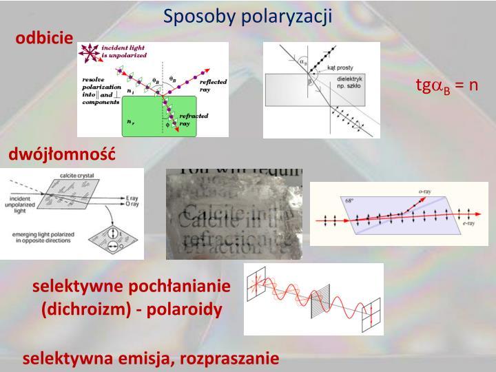 Sposoby polaryzacji