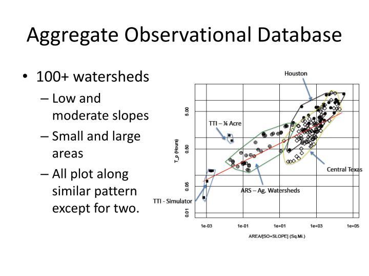 Aggregate Observational Database