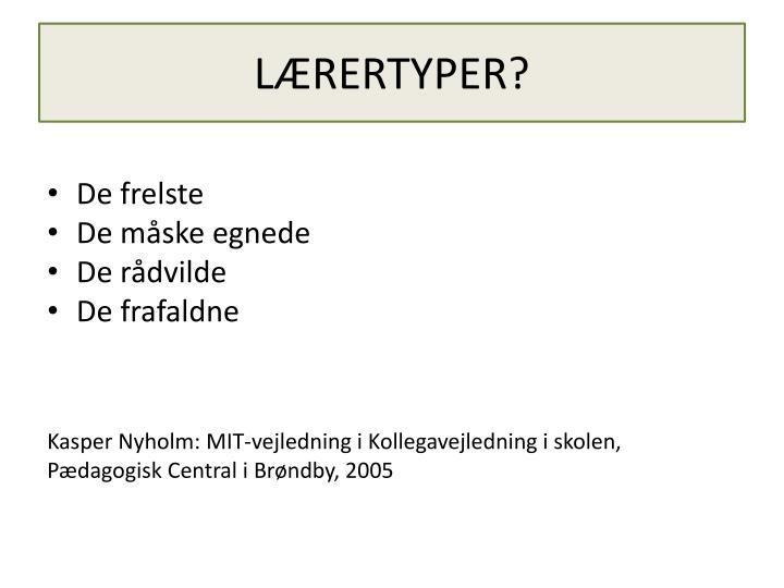 LÆRERTYPER?