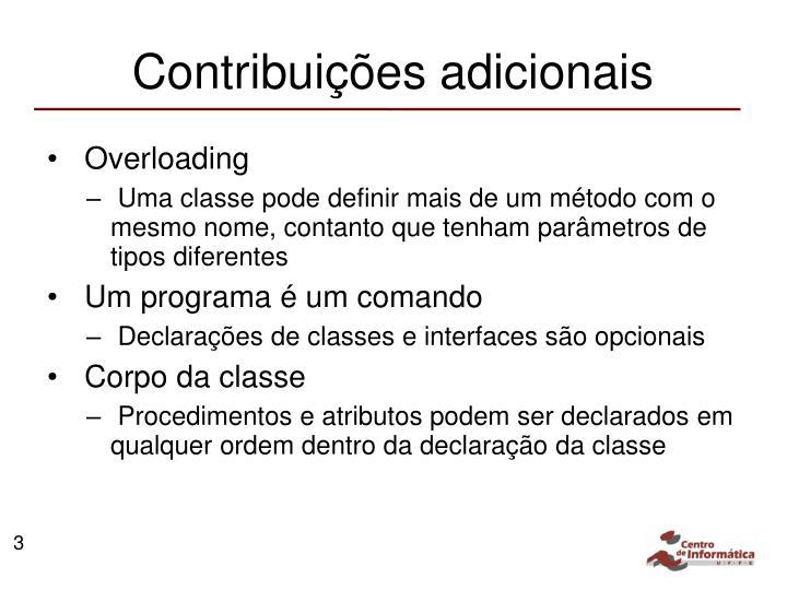 Contribuições adicionais
