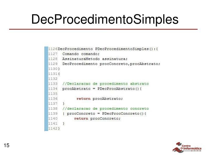 DecProcedimentoSimples