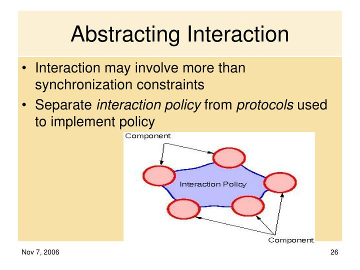 Abstracting Interaction