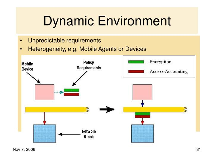 Dynamic Environment
