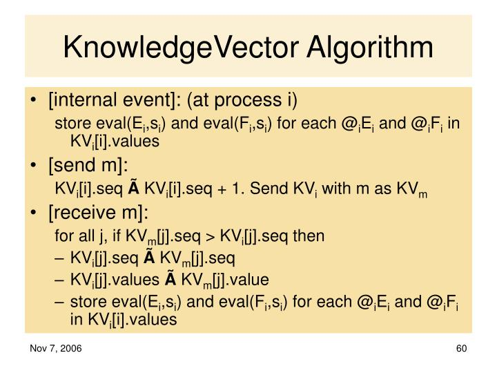 KnowledgeVector Algorithm