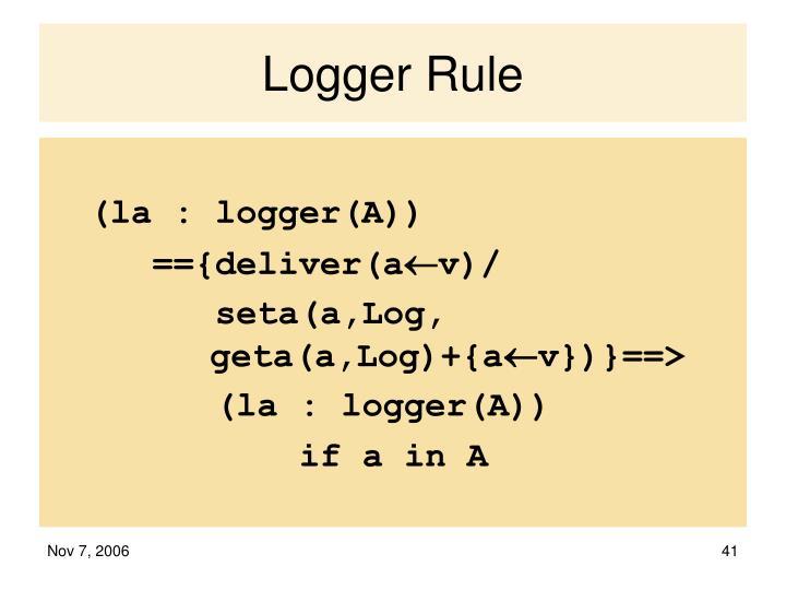Logger Rule
