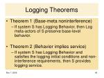 logging theorems
