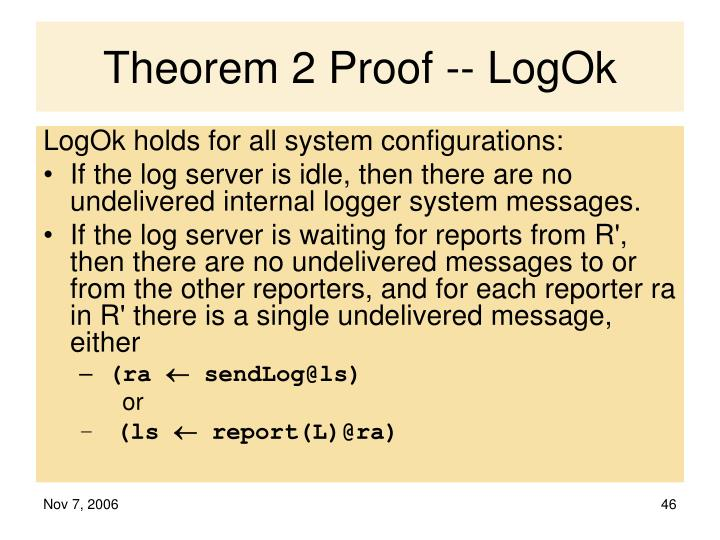 Theorem 2 Proof -- LogOk