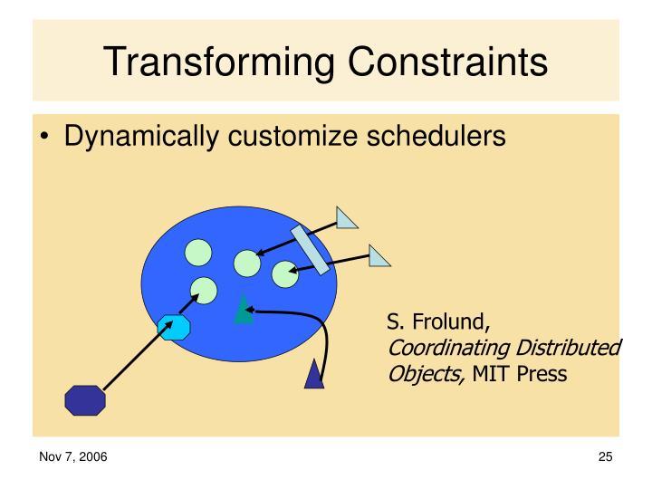 Transforming Constraints
