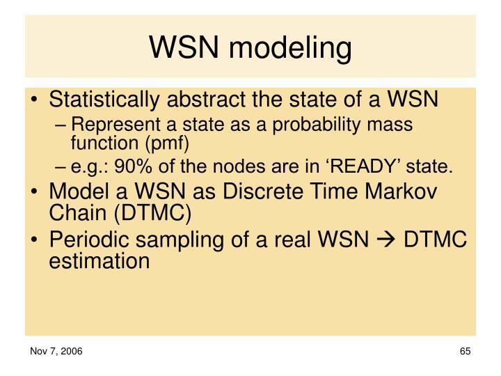 WSN modeling