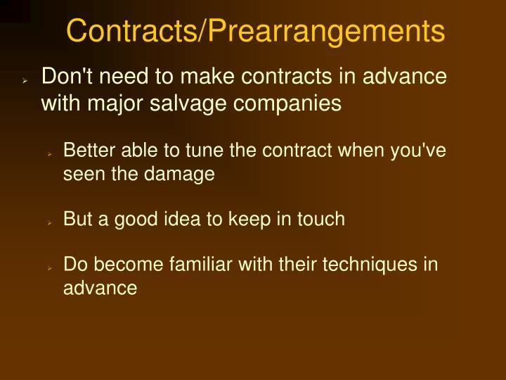 Contracts/Prearrangements