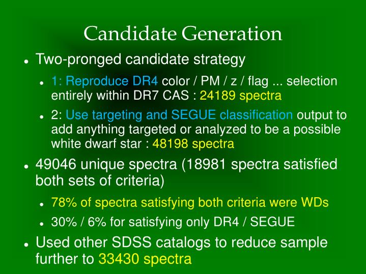 Candidate Generation