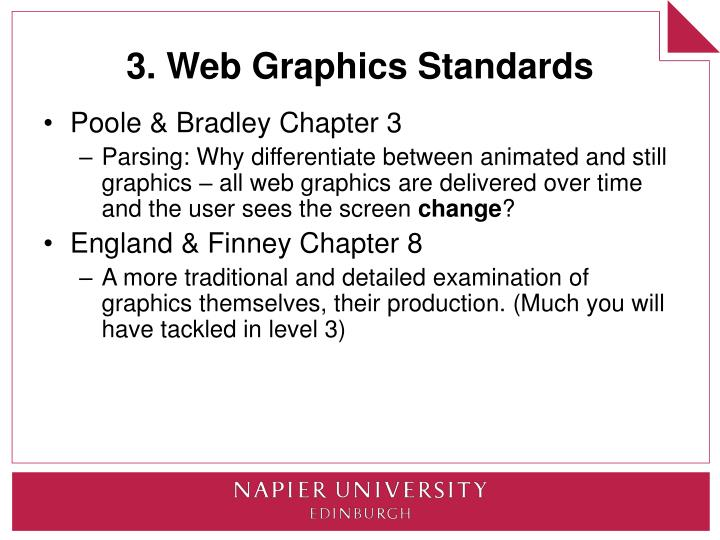 3. Web Graphics Standards