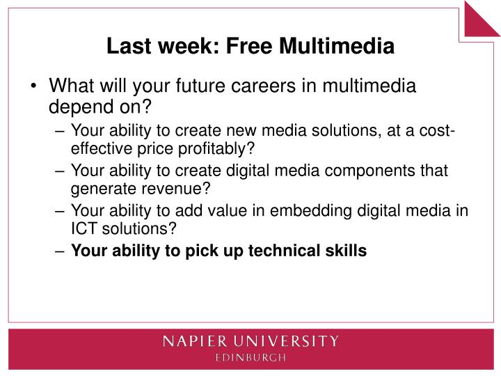 Last week free multimedia
