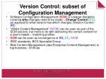 version control subset of configuration management