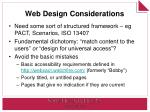 web design considerations