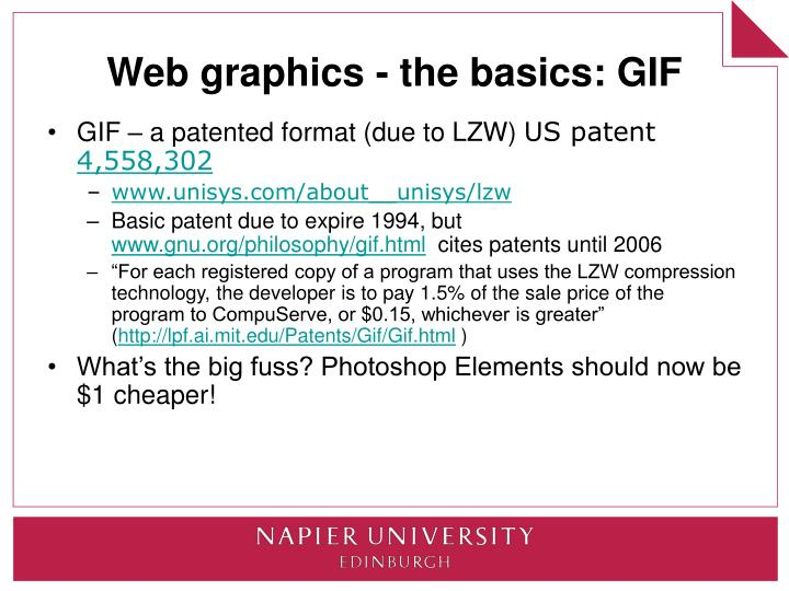Web graphics - the basics: GIF