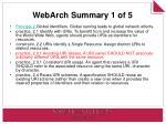 webarch summary 1 of 5