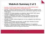 webarch summary 2 of 5
