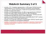 webarch summary 3 of 5