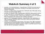 webarch summary 4 of 5