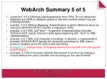 webarch summary 5 of 5