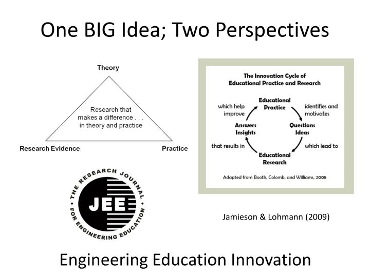 One BIG Idea; Two Perspectives