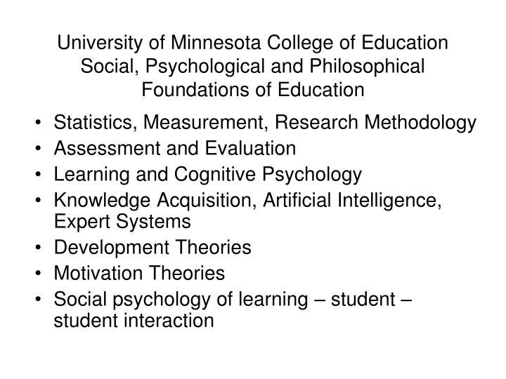 University of Minnesota College of Education