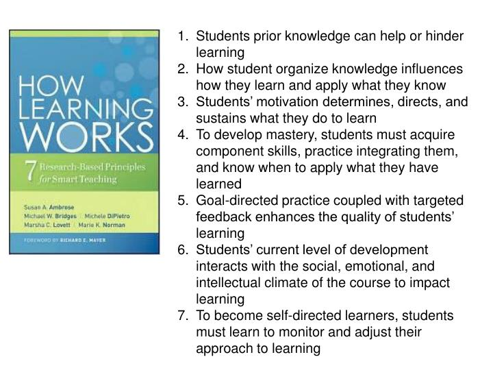 Students prior knowledge can help or hinder learning