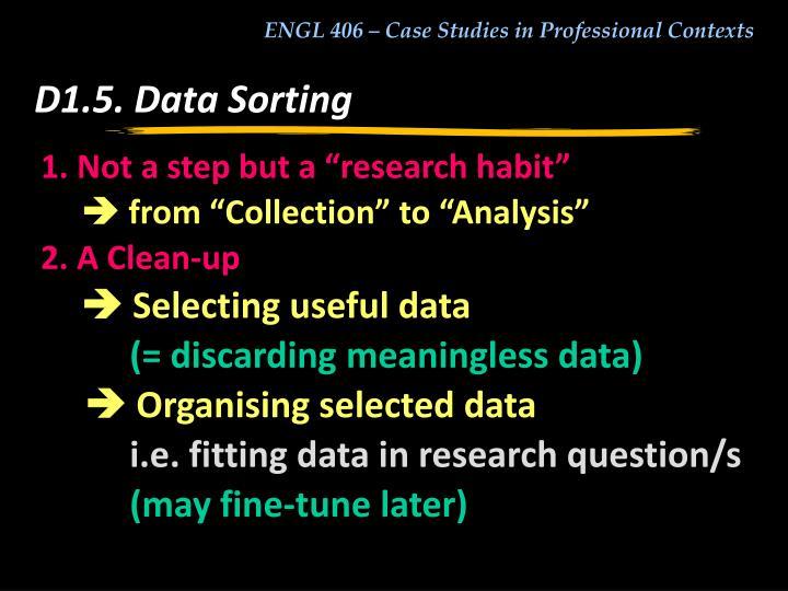 D1.5. Data Sorting