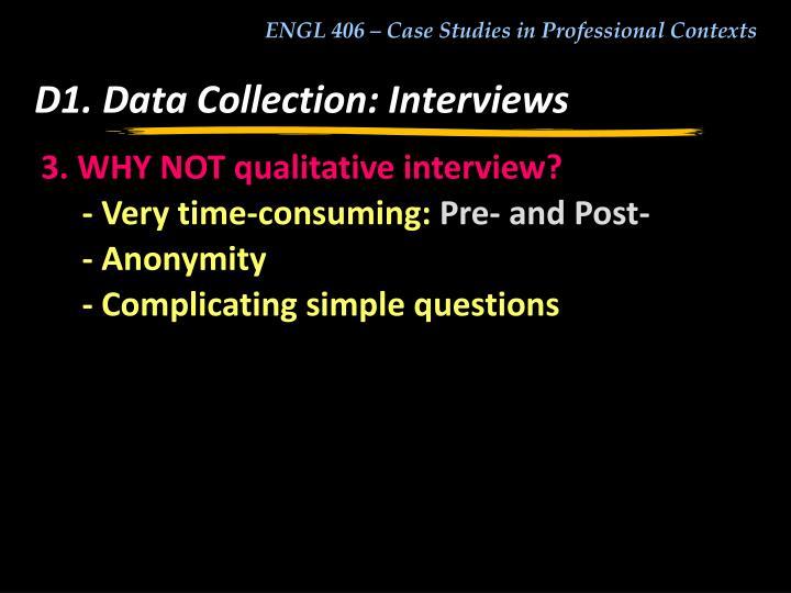 D1. Data Collection: Interviews