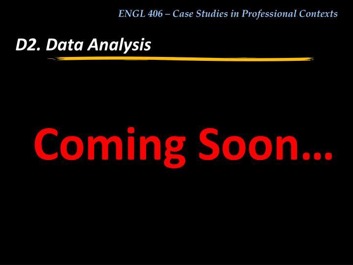 D2. Data Analysis