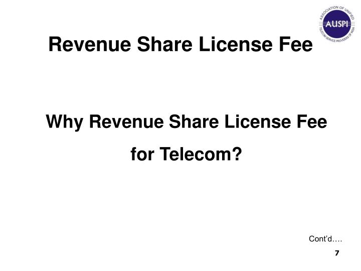Revenue Share License Fee