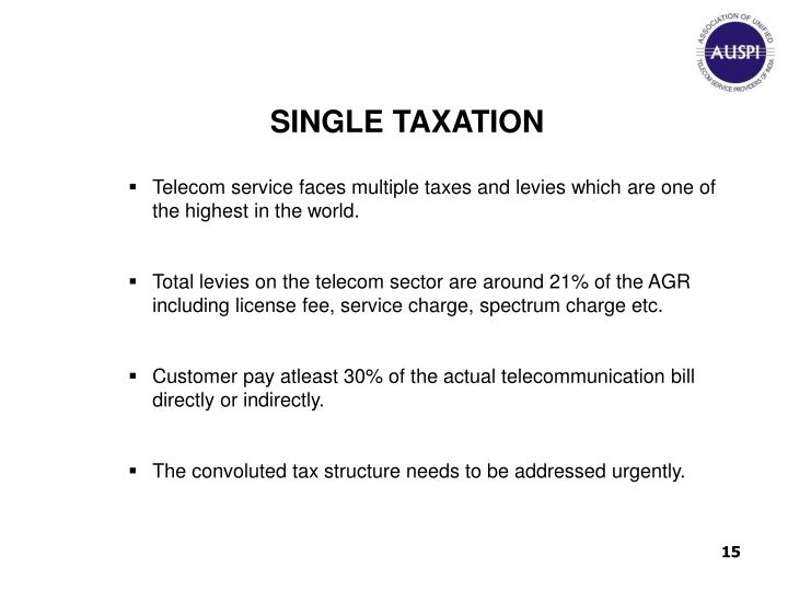 SINGLE TAXATION