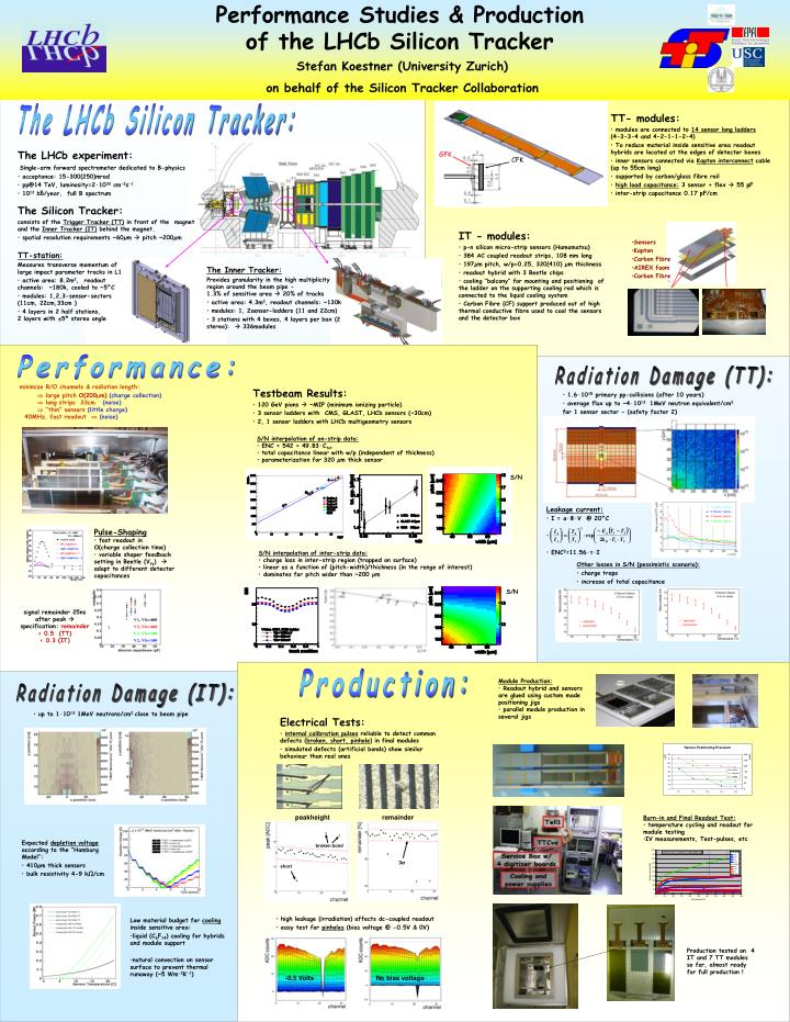 Performance studies production of the lhcb silicon tracker
