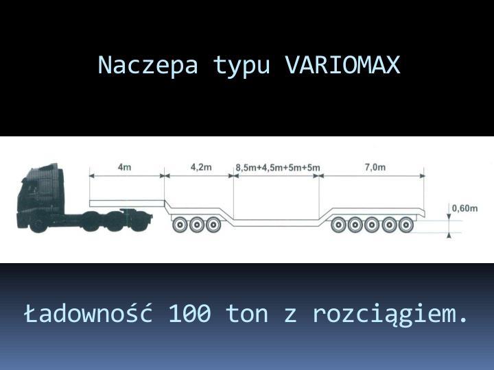 Naczepa typu VARIOMAX