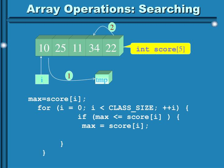 Array Operations: Searching
