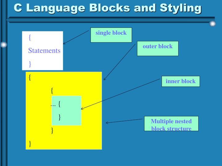 C Language Blocks and Styling