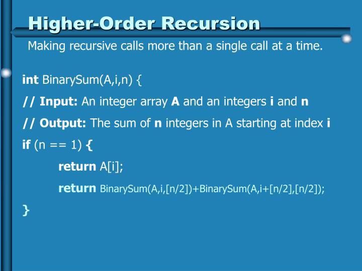 Higher-Order Recursion