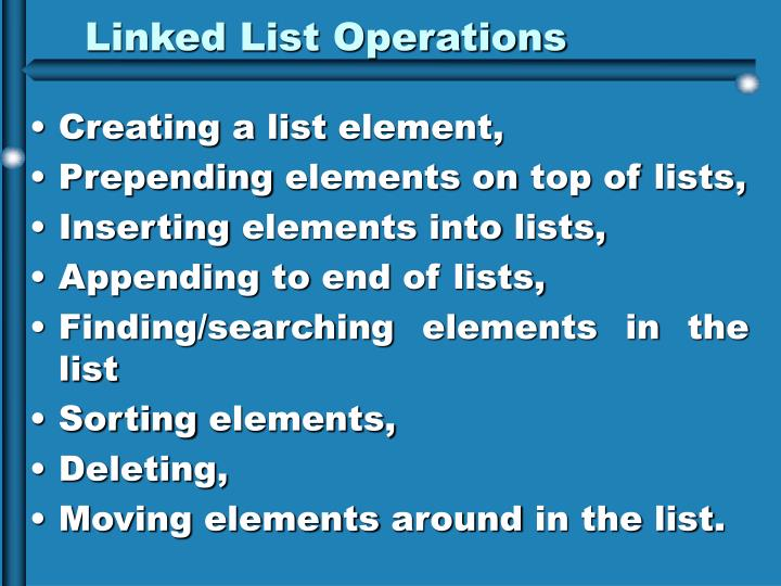 Linked List Operations