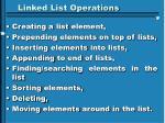 linked list operations