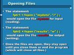 opening files