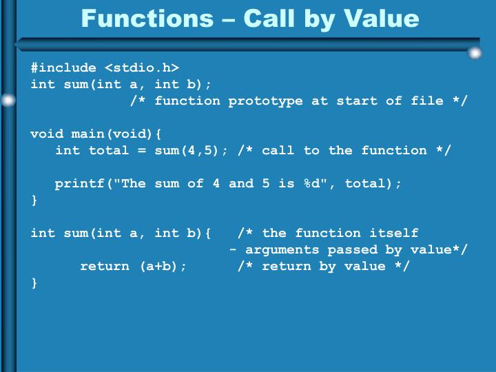 Functions –