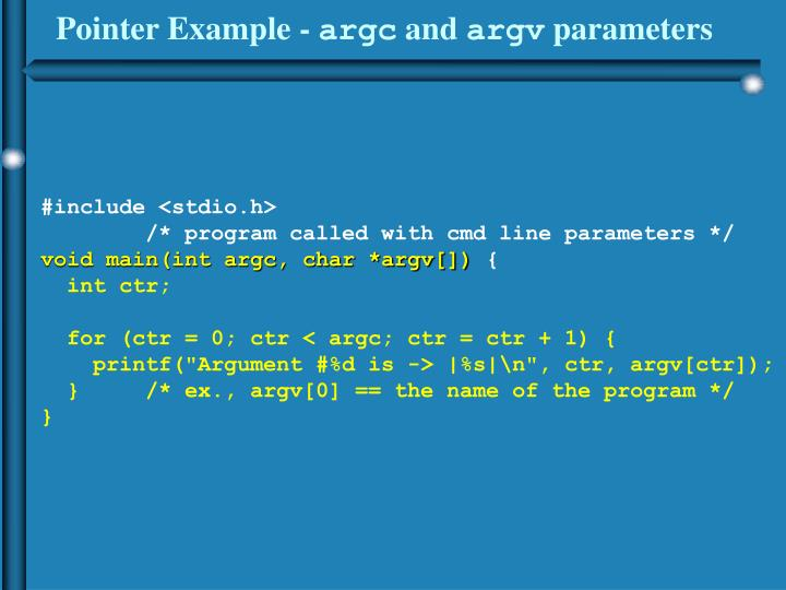 Pointer Example -