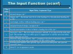 the input function scanf